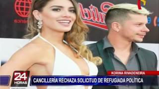 Korina Rivadeneira: Cancillería rechaza solicitud de refugiada