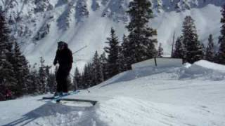 Arapahoe Basin Terrain Park Rail Slide and 360 Jump Thumbnail