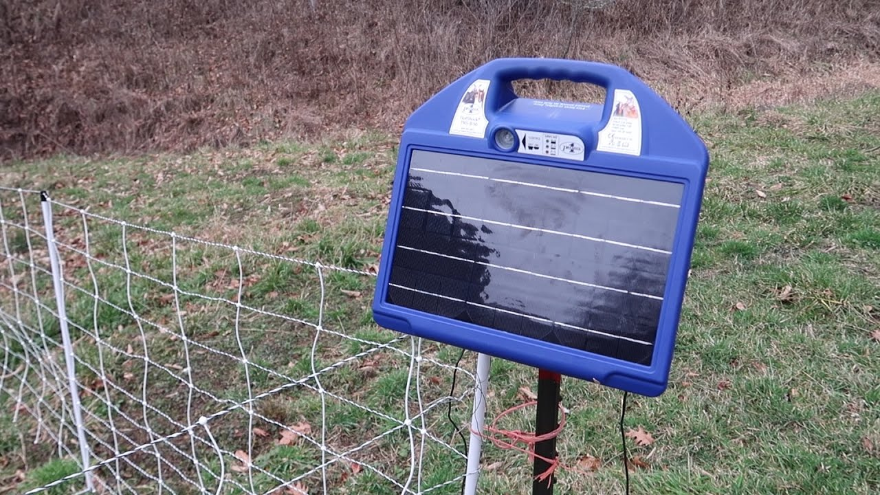 Electric Fence Box Setup: Premier One Electric Netting Fence and Charger Setup For Goats - 8K rh:youtube.com,Design