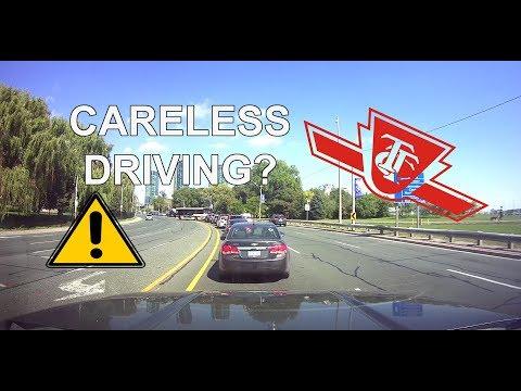 TTC Bus Driving Oncoming Traffic *Dashcam Fail*