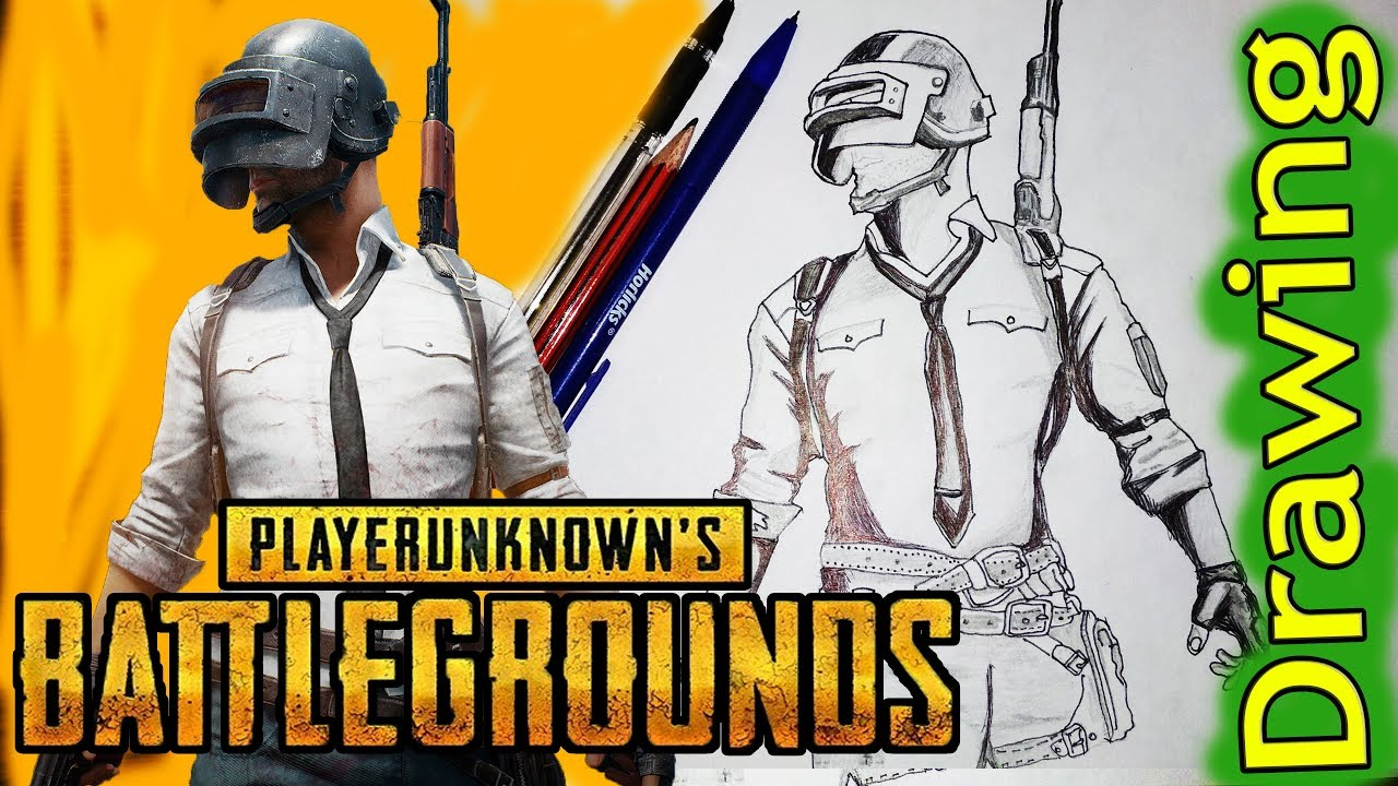 Pubg Sketch Hd: How To Draw PUBG Mobile Character