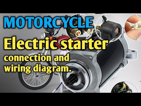 motorcycle electric starter connection and wiring diagram/tagalog tutorial