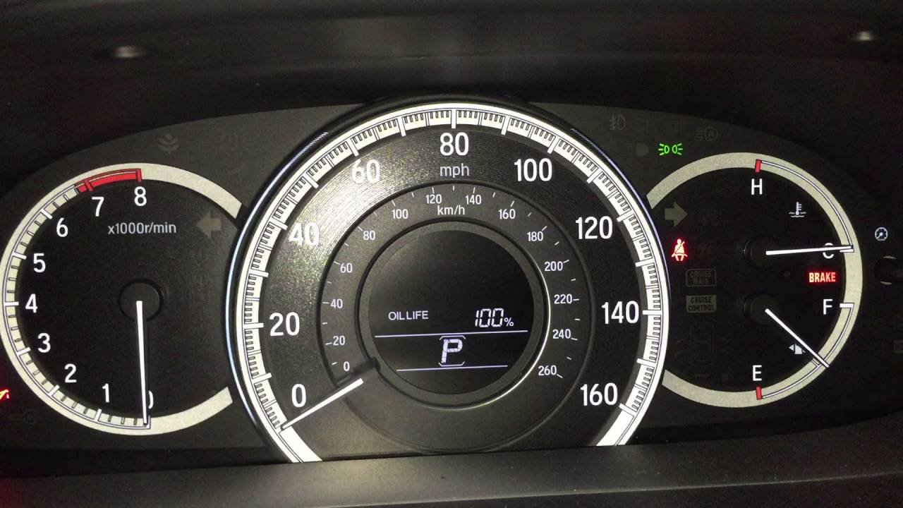 2016 Accord Oil Life Reset To 100