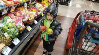 Kid Grocery Shopping Trip with Kids Car Shopping Cart   Find the Hidden Chuck E Cheese