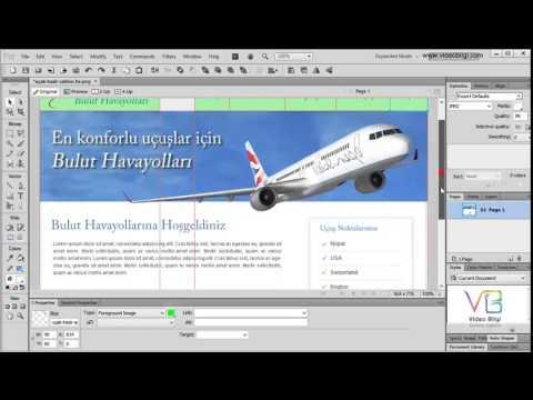 Ders 14: Adobe Fireworks Tools Web Slice Tool – Tasarım Dilimleme