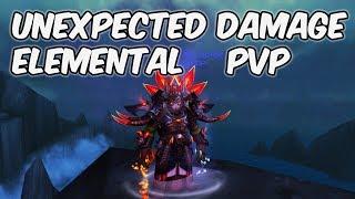 UNEXPECTED DAMAGE - 8.0.1 Elemental Shaman PvP - WoW BFA