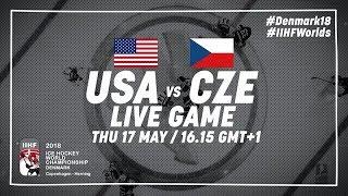 USA - Czech Republic | Live | 2018 IIHF Ice Hockey World Championship
