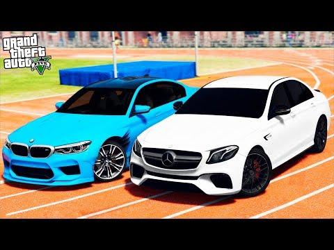 РЕАЛЬНАЯ ЖИЗНЬ В GTA 5 - BMW M5 F90 ПРОТИВ MERCEDES E63 AMG! ЗАМЕРЫ РАЗГОНА ДО 100 КМ/Ч! 🌊ВОТЕР