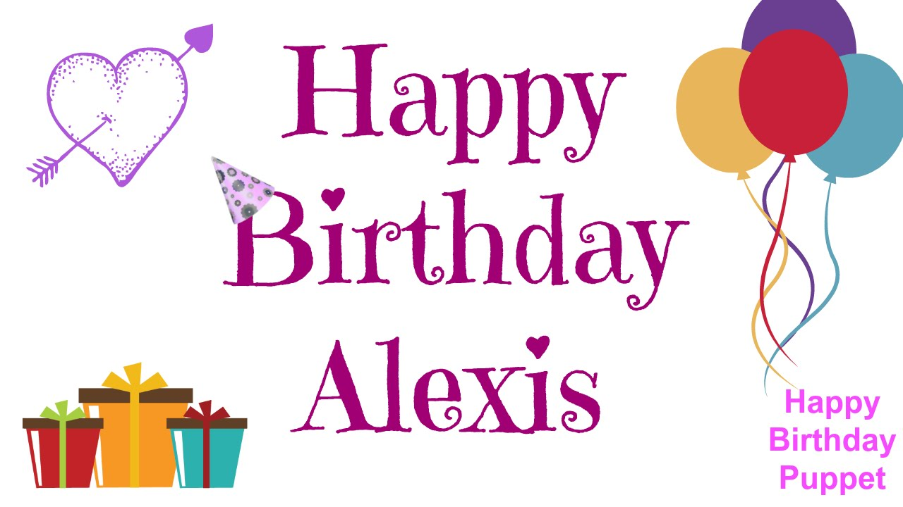 happy birthday alexis coloring pages - photo#29