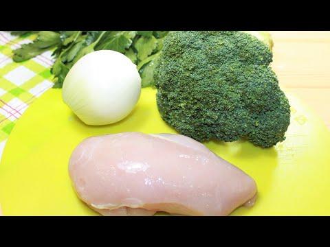 Легкий рецепт из БРОККОЛИ с Курицей и луком, получается очень вкусно и просто.