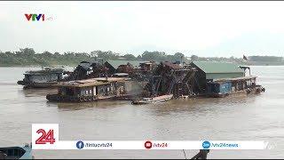 Đại công trường khai thác cát trái phép trên sông Hồng | VTV24