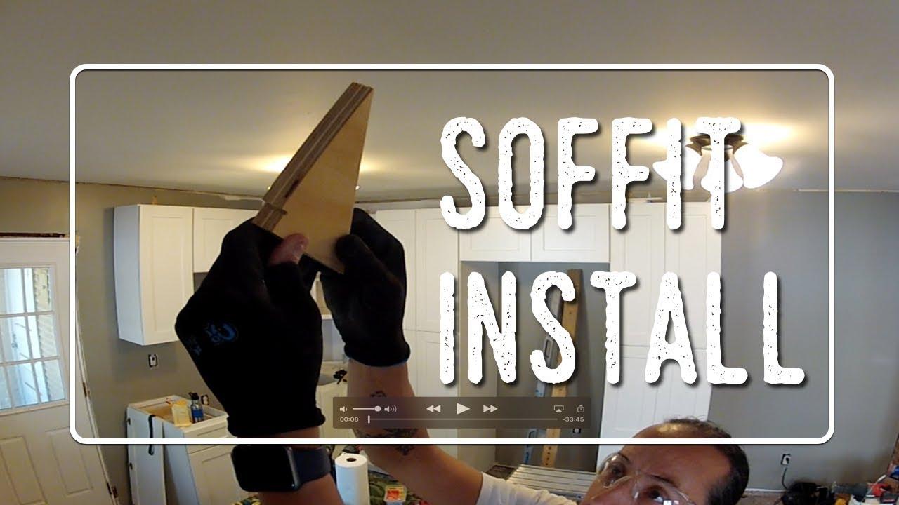 Installing Soffit above kitchen cabinets