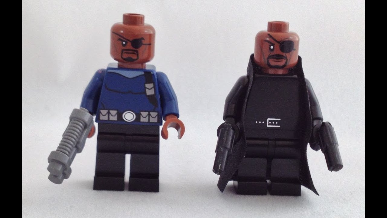 LEGO Marvel Avengers Nick Fury Minifigure Review - YouTube