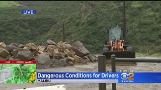 Rain Creates Dangerous Driving Conditions Throughout Los Angeles