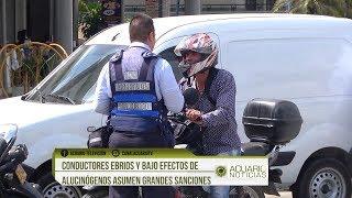 Conductores ebrios y bajo efectos de alucinógenos asumen grandes sanciones