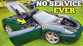 Rebuilding a Cheap Neglected Ferrari From Salvage Auction NO SERVICE IN 15 YEARS!