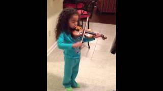 Minuet 2 Suzuki violin 4 years old