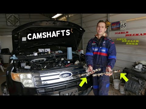 HOW TO REPLACE INTAKE EXHAUST CAMSHAFT ON FORD EDGE FLEX TAURUS LINCOLN MKX MKS MKT MKZ 3.5 3.7 V6