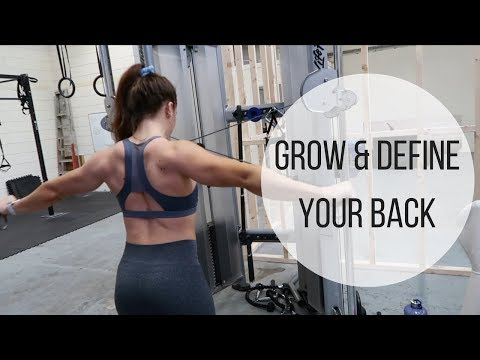 Grow And DEFINE Your Back   Complete Workout & Back Mobility Warm-up