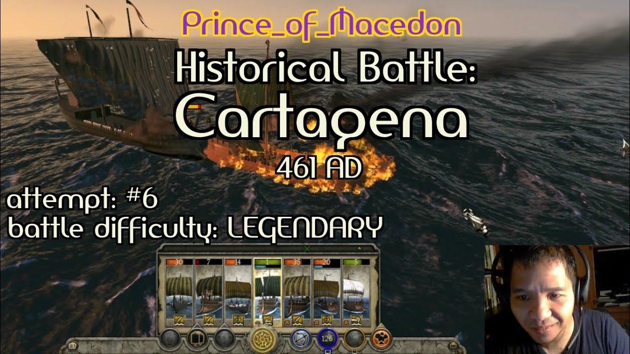 total war attila historical battle cartagena legendary
