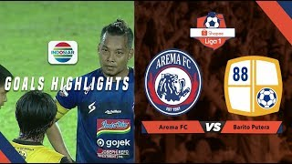 Arema FC (2) vs (1) Barito Putera - Goals Highlights | Shopee Liga 1