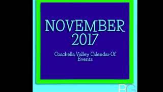 Coachella Valley November 2017 Calendar Of Events