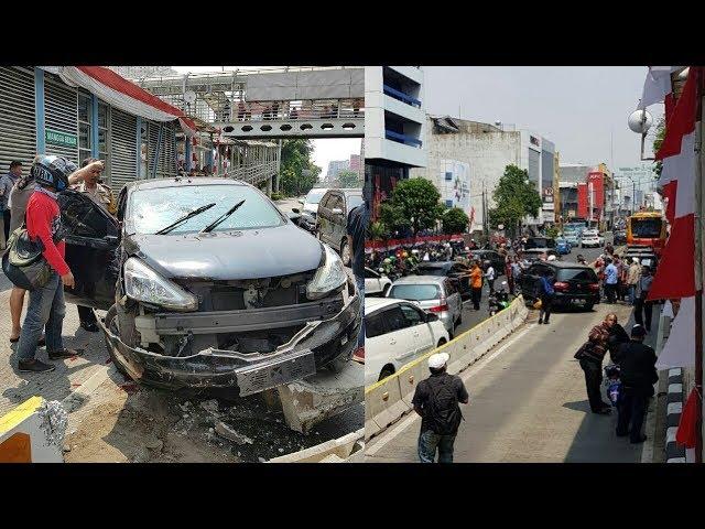 VIRAL.!!! Tabrak Pemotor, Pengendara Mobil Mencoba Kabur Dari Kejaran Warga