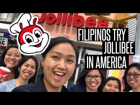 Filipinos try American Jollibee (Woodside, Queens Branch)