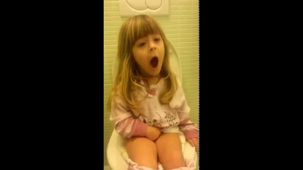 Young singer on the toilet