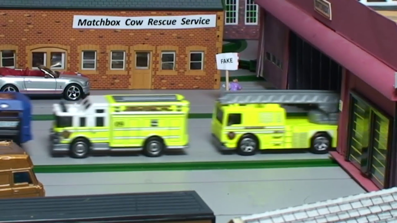 TOY POLICE, FIRE, EMERGENCY SERVICES ~ Collection Matchbox Cars ...