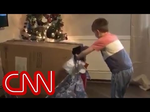 Boy's emotional Christmas surprise goes viral