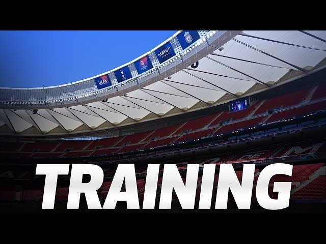 Live Training Spurs Train At Wanda Metropolitano Ahead Of