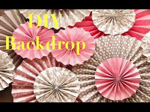 DIY kraft Paper Fans Backdrop Pinwheel / Abanicos de Papel - Decoracion de Fiestas)