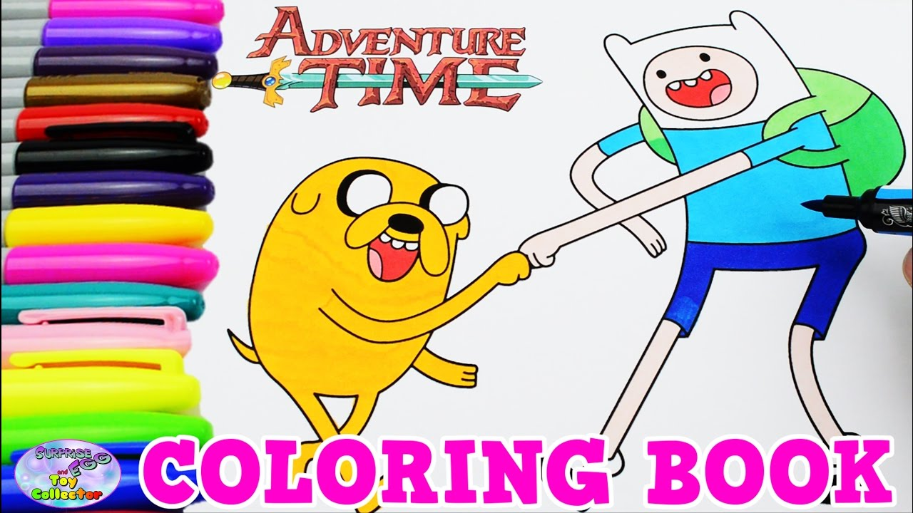 Adventure Time Coloring Book Finn and Jake Episode Colors Surprise ...
