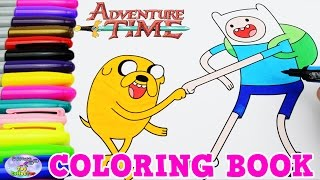 Adventure Time Coloring Book Finn and Jake Episode Colors Surprise Egg and Toy Collector SETC