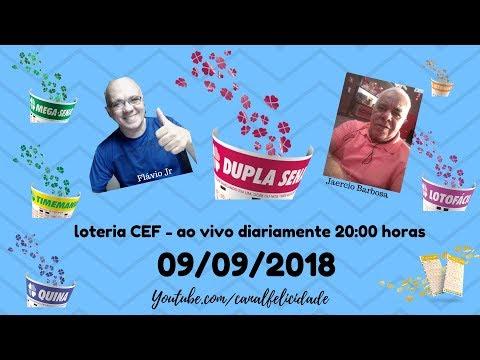 Resultados 09/09/2019 - ao vivo - QUINA -LOTOFACIL - MEGA SENA