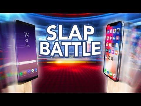 iPhone X vs Note 8 Slap Battle! Who Will Win?!
