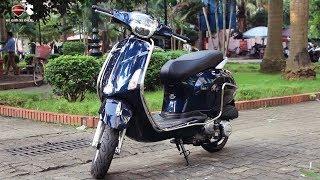Review Xe máy tay ga Vespa 50cc Nioshima không cần bằng lái, 16 tuổi đi được