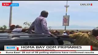 Aspirants dispute Homabay nomination results causing supporters to follow in protest