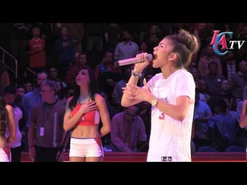 Zendaya sings National Anthem