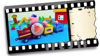 Обзор игрушки паровозик дедушки Пеппы Мультфильм Свинка Пеппа