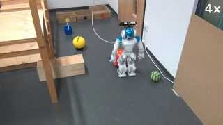 Nao humanoid cleans up a room autonomously