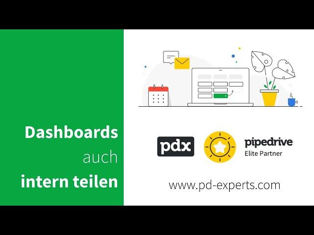 Pipedrive-Dashboards auch intern teilen