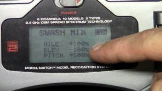 DX6i HowTo Part 4 Binding, Swash, Throttle & Pitch Curves