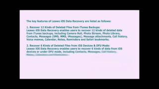 All-in-One iOS Data Recovery Software