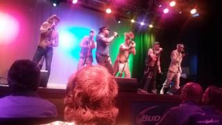 The Village People performing lets go back to the dance floor at Ma...