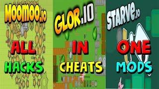 Glor.io Hacks MooMoo.io + Starve.io Mods, Cheats Zoom io !!?