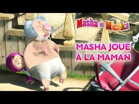Masha et Miсhka - 👩👧 Masha joue à la maman! 👩👧 Dessins animé