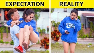 EXPECTATION VS REALITY    28 Funny Situations that Everyone Can Relate to    by GLASSES MEDIA
