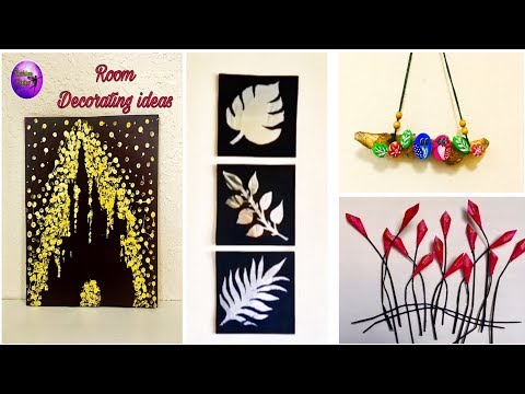 4 Easy DIY - Room decor ideas - Must try | Fashion pixies | waste material craft ideas